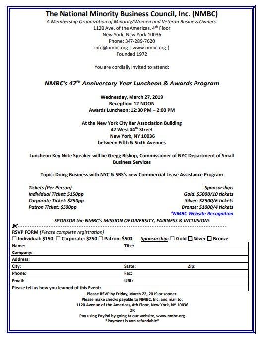 47th Anniversary Year Luncheon & Awards Program