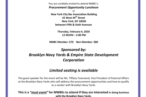 NMBC Luncheon with Brooklyn Navy Yards