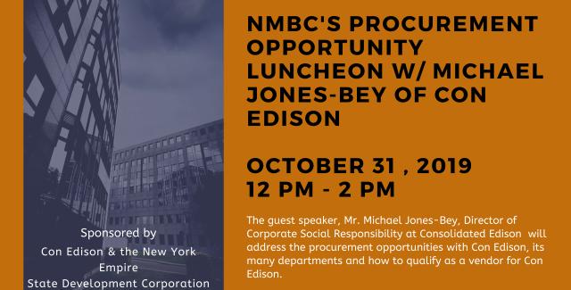 NMBC October 2019 Procurement Opportunity Luncheon