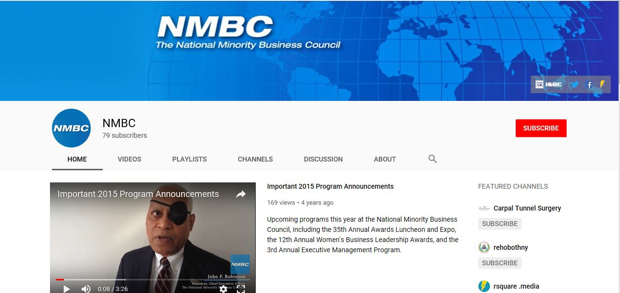 NMBC on YouTube