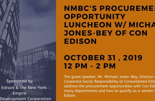 NMBC October 2019 Procurement Opportunity Luncheon